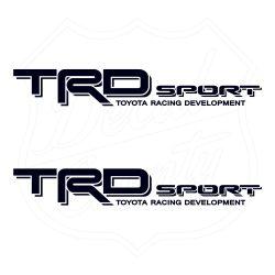 TRD Sport Toyota Racing Developmnet black decals